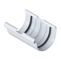 Муфта желоба для водосточной системы Элит (цвет белый)